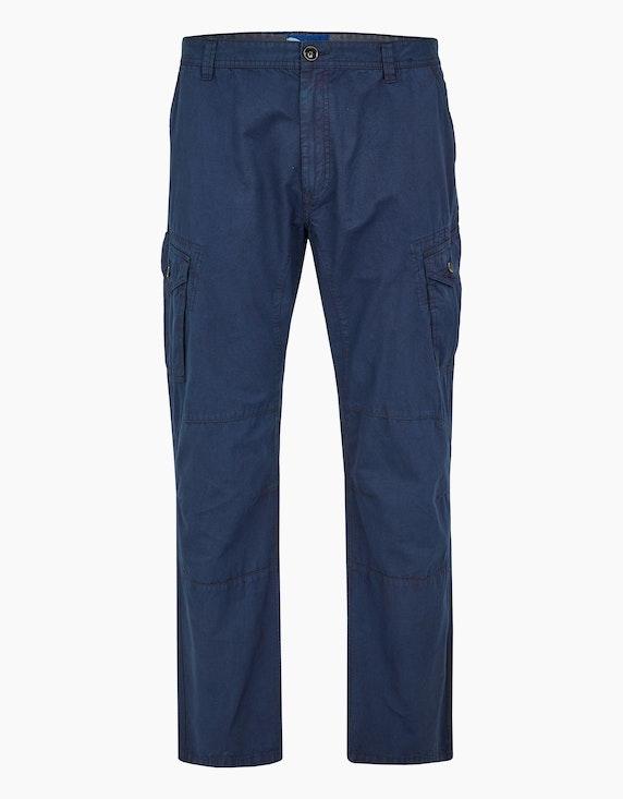 Big Fashion Cargo-Hose aus reiner Baumwolle in Marine | [ADLER Mode]