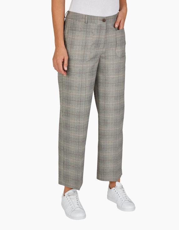 Bexleys woman Glencheck-Hose mit aufgesetzten Taschen | [ADLER Mode]