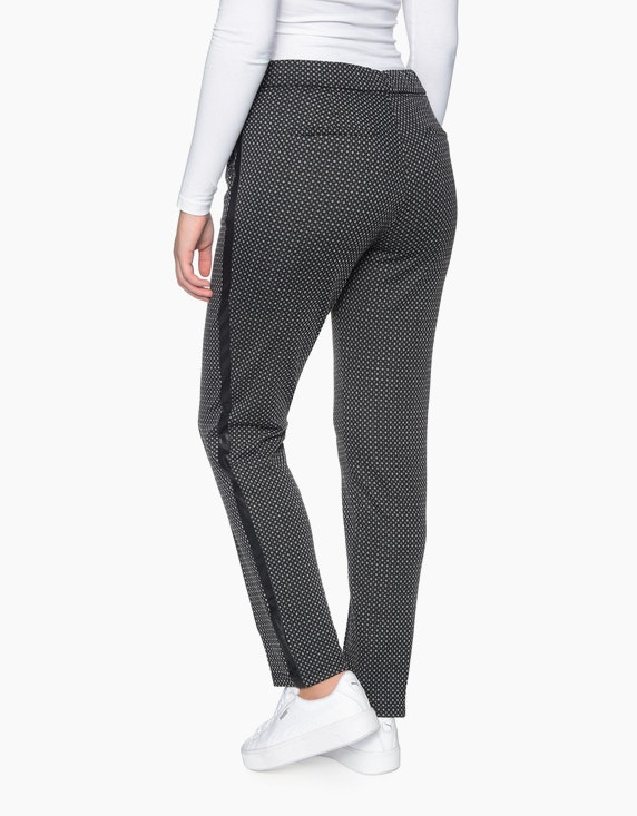 Bexleys woman Jacquard-Joggpants mit Galonstreifen | [ADLER Mode]