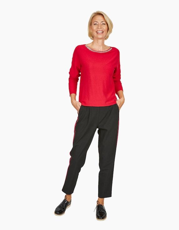 Steilmann Woman Hose mit Galonstreifen in Kontrastfarbe | [ADLER Mode]