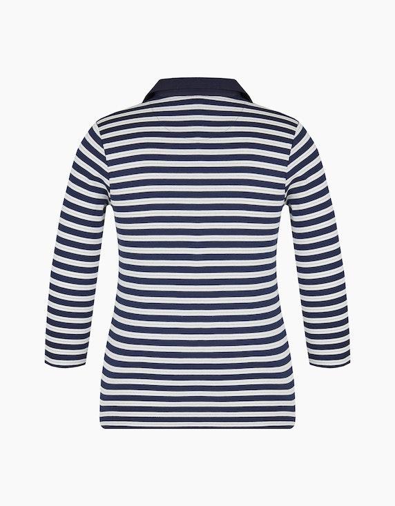 Bexleys woman gestreiftes Poloshirt mit 3/4 Arm | [ADLER Mode]