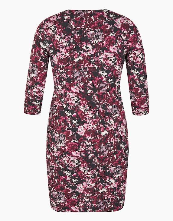 Bexleys woman Jerseykleid mit floralem Druck und gelegten Falten | [ADLER Mode]