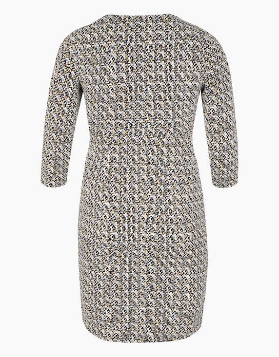 Bexleys woman Jerseykleid mit grafischem Allover-Print und gelegten Falten | [ADLER Mode]