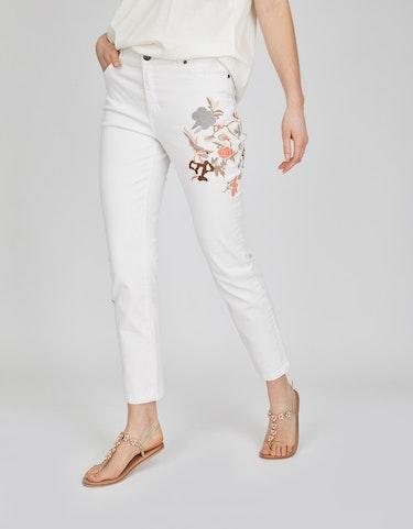 Hosen - Jeans mit farbiger Stickerei, 46  - Onlineshop Adler