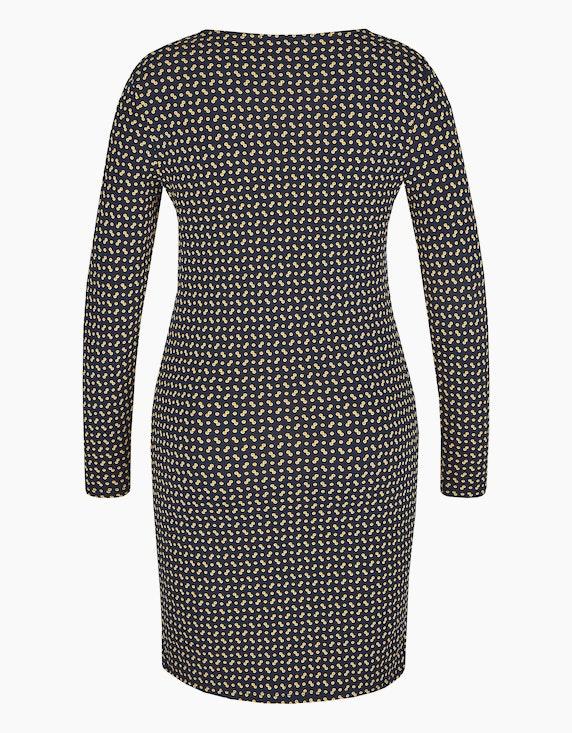 Via Cortesa Jersey-Kleid mit Knoten-Detail und Allover-Druck | [ADLER Mode]