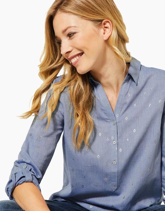 CECIL Bluse mit Hemdblusenkragen und Ikat-Druck | [ADLER Mode]
