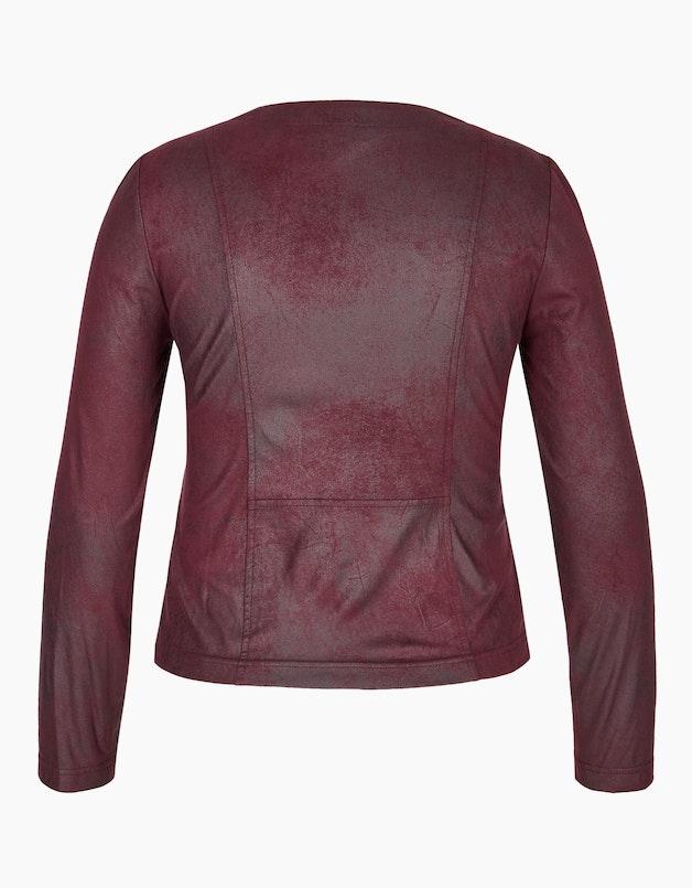 Lederimitat-Jacke mit Reißverschluss in  - VIVENTY articleID: 14490 colorID: 11926