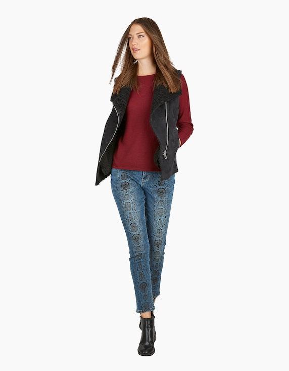 MY OWN Denim-Jeans-Hose mit Schlangen-Print | [ADLER Mode]