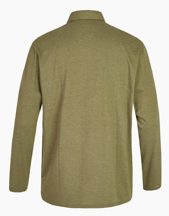 Big Fashion Poloshirt mit langen Ärmeln und Brusttasche   [ADLER Mode]