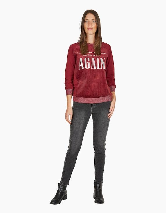 MY OWN Sweatshirt mit Cord und Letterprint | [ADLER Mode]
