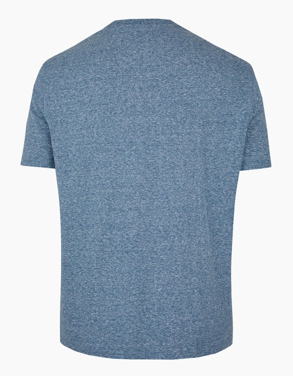 Big Fashion meliertes T-Shirt mit Frontprint | [ADLER Mode]