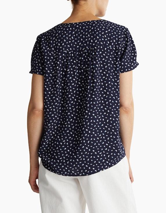 Esprit Schlupf-Bluse mit Minimal-Print aus reiner Viskose   [ADLER Mode]