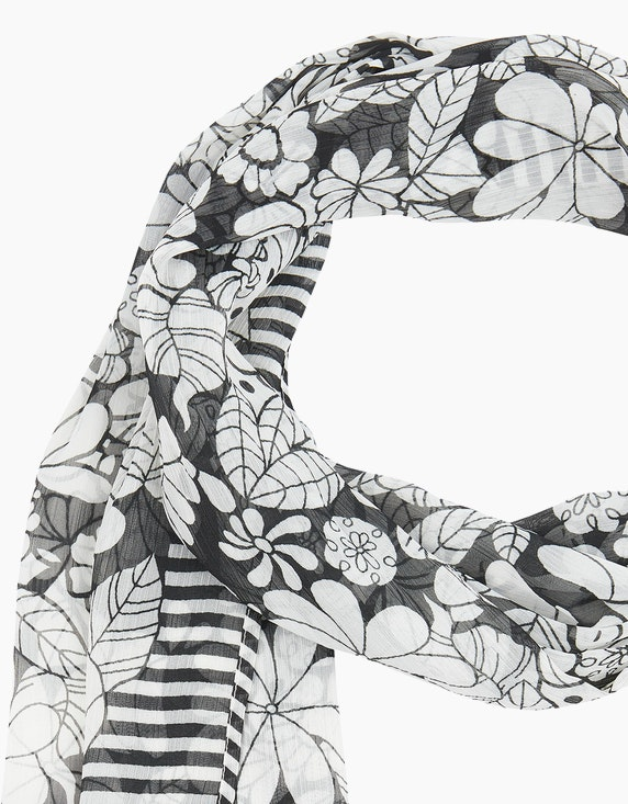 Bexleys woman Tuch mit Blumen und Streifen | [ADLER Mode]