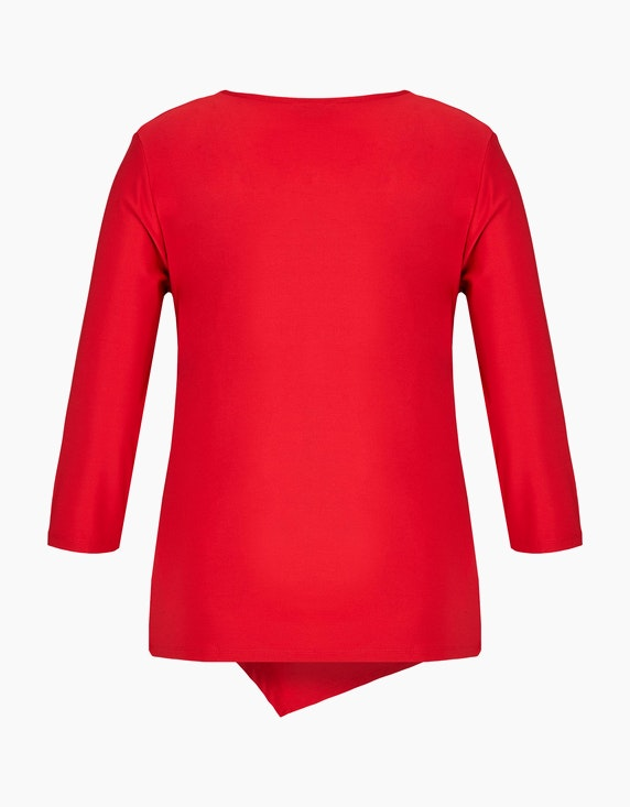 KS. selection Shirt mit Knotendrapierung und Ärmeln in 3/4 Länge | [ADLER Mode]