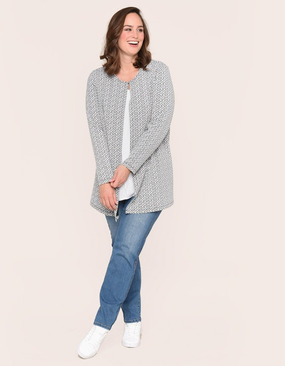 Thea langer Cardigan, Greek-Jacquard | [ADLER Mode]