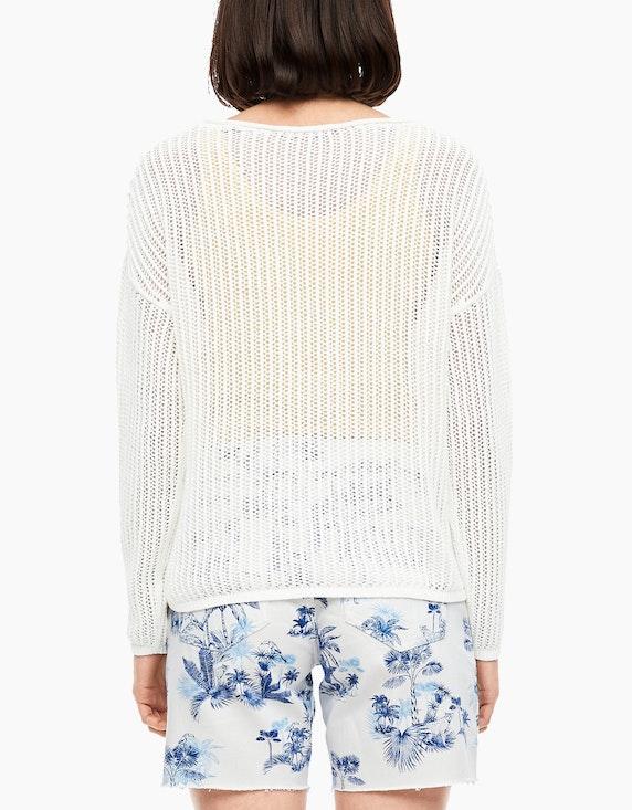 s.Oliver Ajour-Pullover mit überschnittener Schulter | [ADLER Mode]
