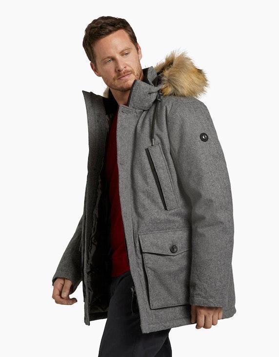 Tom Tailor Lange Winterjacke mit Fellkragen | [ADLER Mode]
