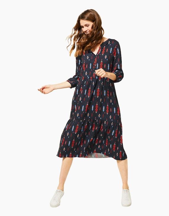CECIL Kleid mit Ikat-Muster, reine Viskose | [ADLER Mode]
