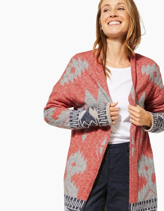 CECIL Lange Strickjacke mit Ikat-Muster im Ethno-Style | [ADLER Mode]