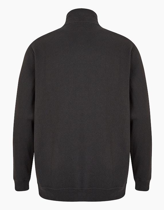 Big Fashion gesteppte Sweatjacke im Materialmix   [ADLER Mode]