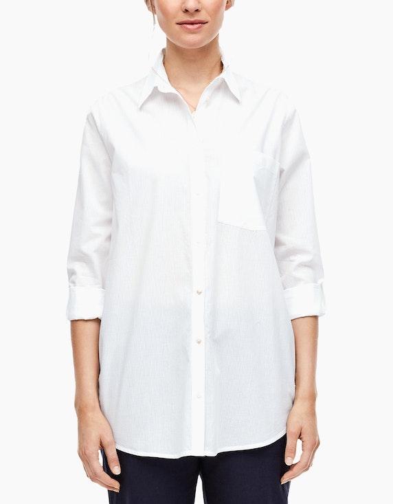 s.Oliver lange Hemdbluse aus reiner Baumwolle   [ADLER Mode]