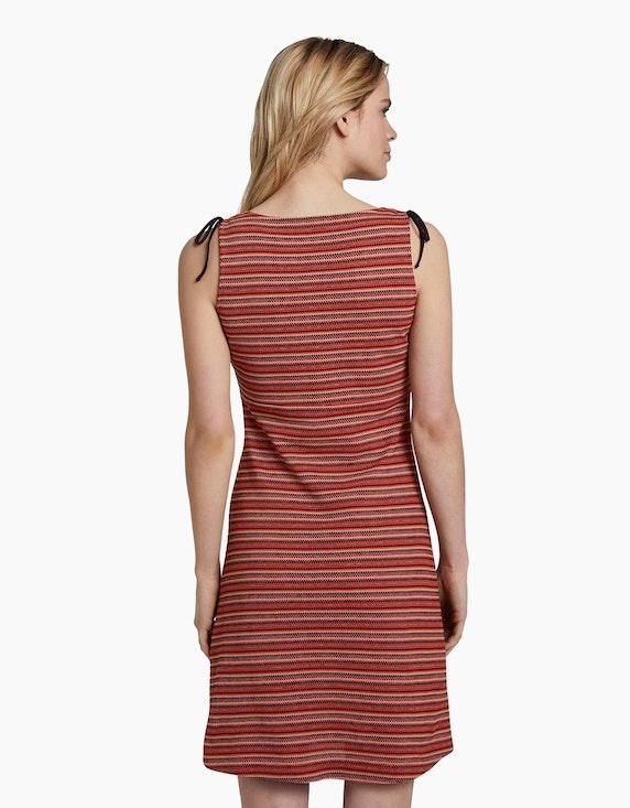 Tom Tailor Kleid im Streifen-Look und Schulter-Detail | [ADLER Mode]