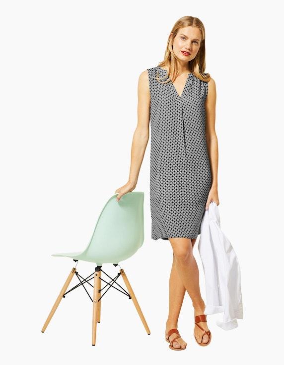 Street One Kleid mit Allover-Print aus reiner Viskose | [ADLER Mode]