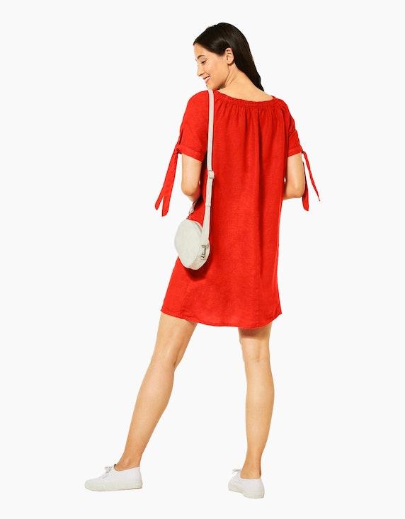 Street One Leinen-Kleid mit Carmenausschnitt und Schleifendetail | [ADLER Mode]