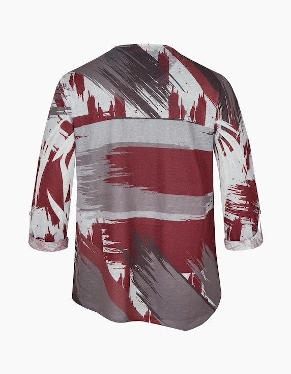Thea Feinstrick-Shirt mit asymmetrischem Saum und Mustermix   [ADLER Mode]
