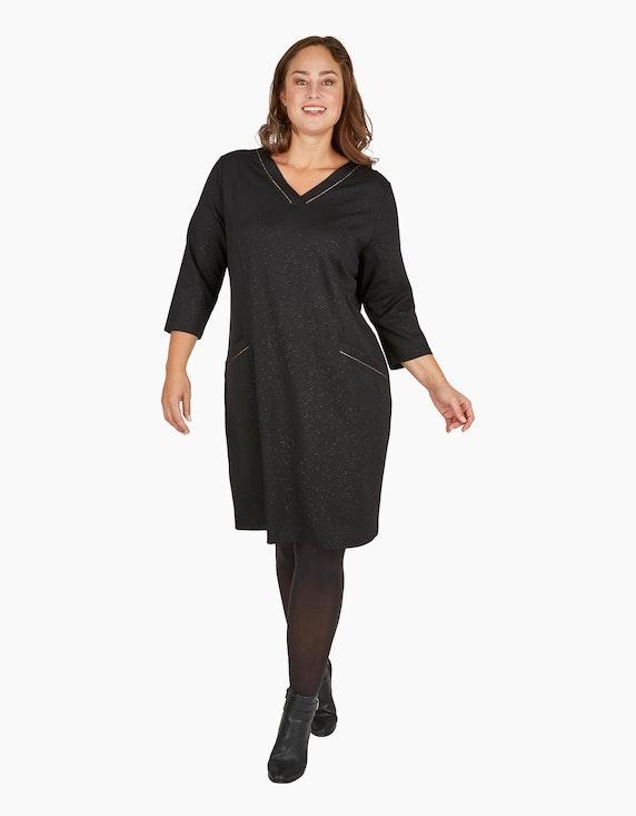 Thea Festliches Jersey-Kleid mit bronzefarbenen Effekten | [ADLER Mode]