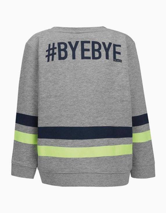 Tom Tailor Mini Boys Sweatshirt mit Streifen und Wording | [ADLER Mode]