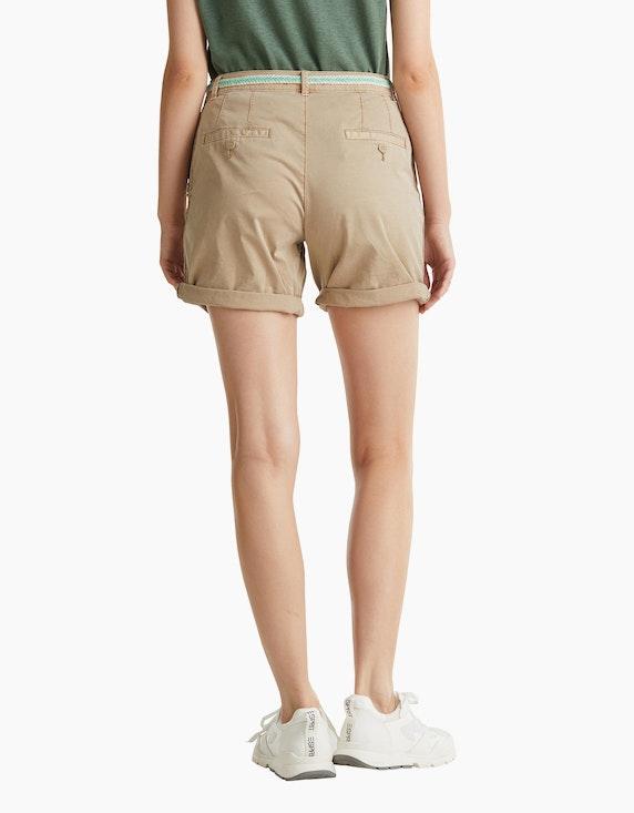 Esprit Stretch-Shorts mit geflochtenem Gürtel und seitlichem Ripsband | [ADLER Mode]