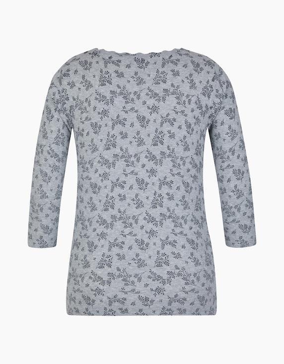 Bexleys woman Floraler Pullover mit femininem Wellen-Ausschnitt | [ADLER Mode]