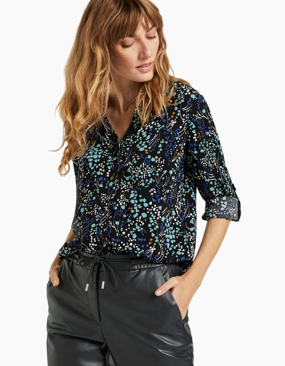 Tom Tailor Henley Bluse mit Allover-Druck | [ADLER Mode]