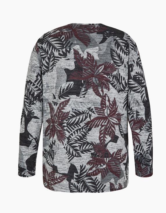 Thea Feinstrick-Shirt mit Blätter-Muster   [ADLER Mode]