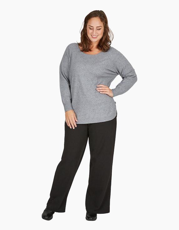 Thea Feinstrick-Pullover im Poncho-Style mit Ziernieten   [ADLER Mode]