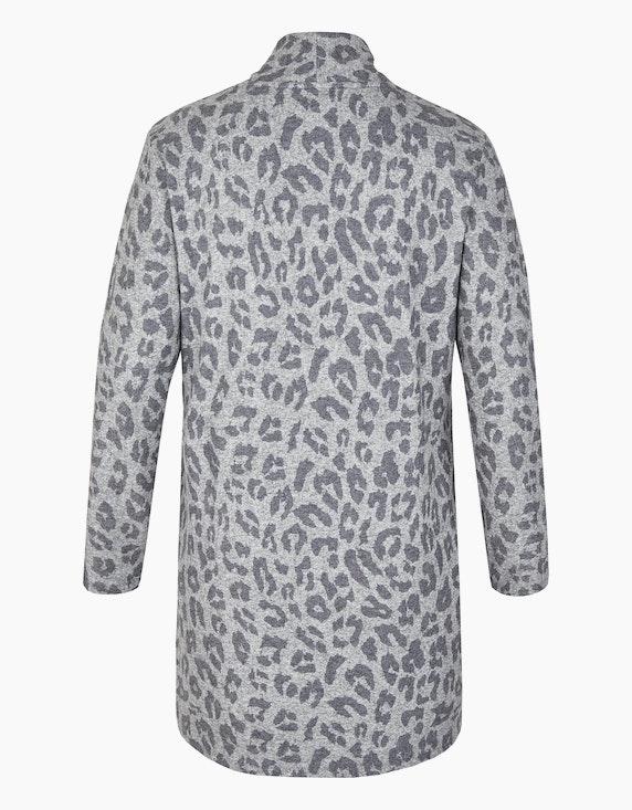 Thea Flauschige Feinstrick-Jacke mit Animal-Print   [ADLER Mode]