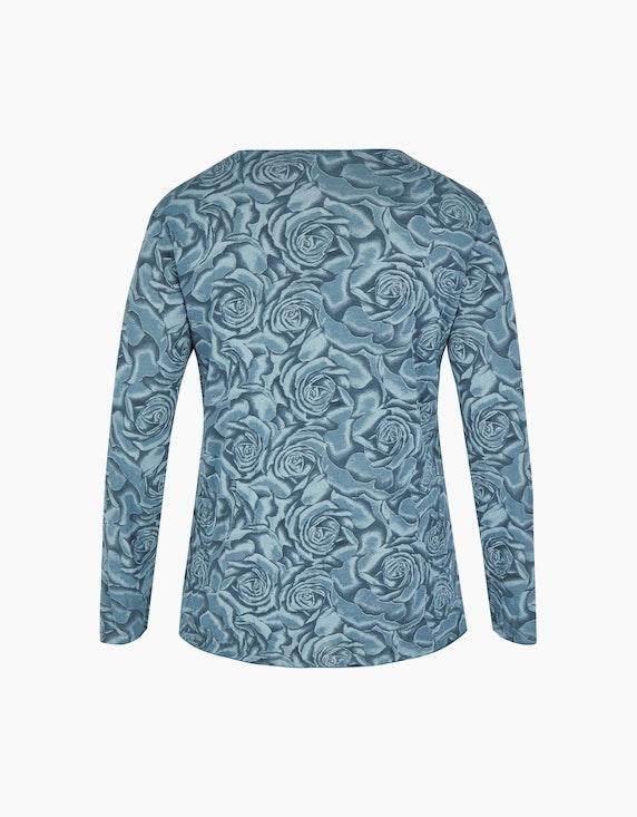 Thea Feinstrick-Shirt  mit Rosen-Druck   [ADLER Mode]
