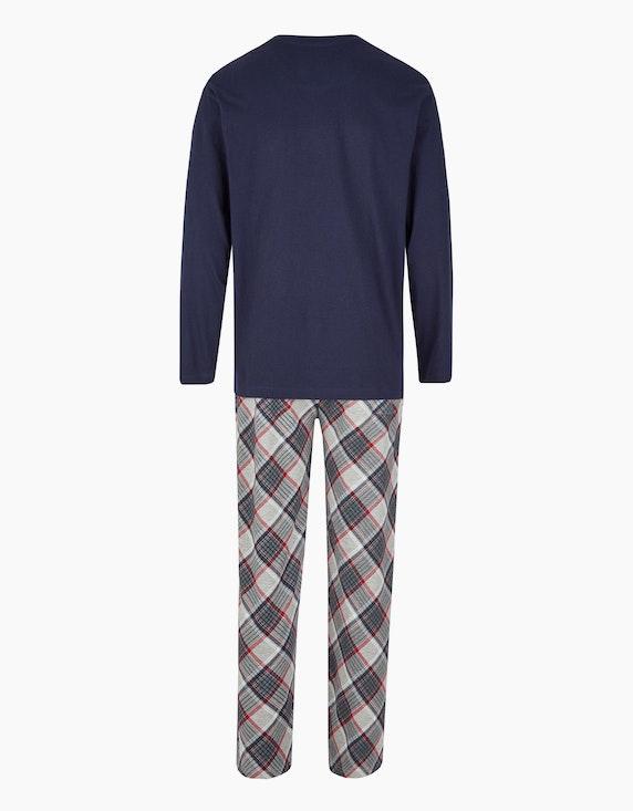 Bexleys man Langer Pyjama mit weihnachtlichem Druck   [ADLER Mode]