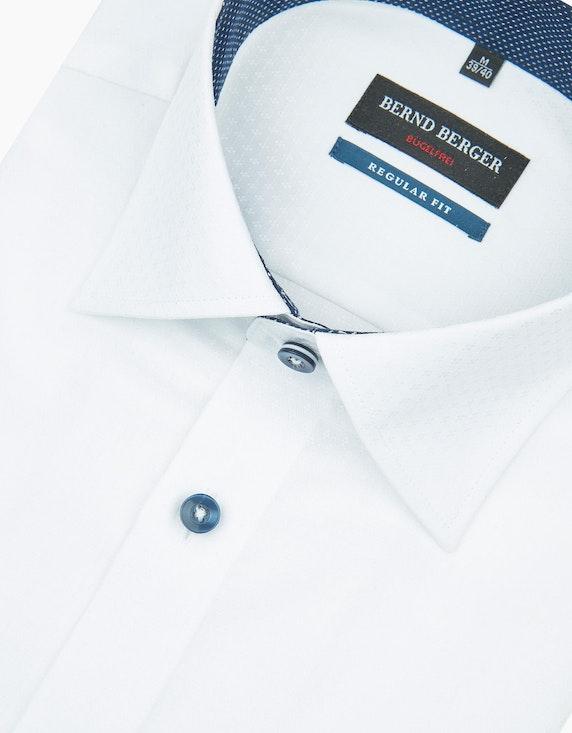 Bernd Berger Klassisches Dresshemd mit Details, REGULAR FIT | [ADLER Mode]
