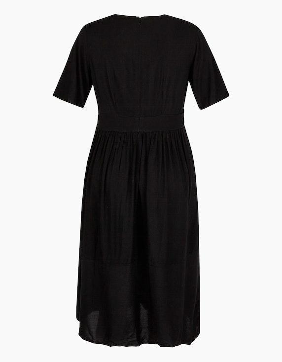 Bexleys woman Viskose-Kleid mit tiefem V-Ausschnitt | [ADLER Mode]