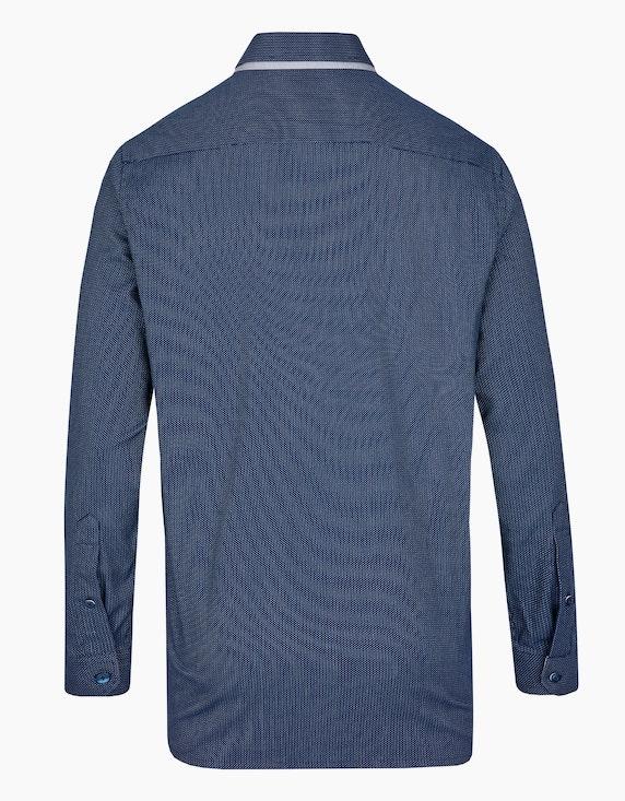 Bernd Berger Dresshemd mit Dobby-Muster und Doppelkragen, REGULAR FIT   [ADLER Mode]