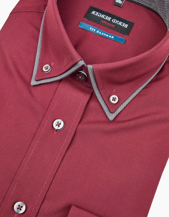 Bernd Berger Dresshemd in chambray mit Doppelkragen, REGULAR FIT   [ADLER Mode]