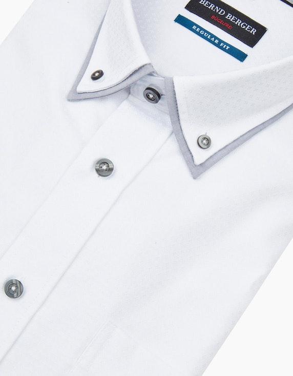 Bernd Berger Dresshemd in Dobby mit Doppelkragen, REGULAR FIT   [ADLER Mode]