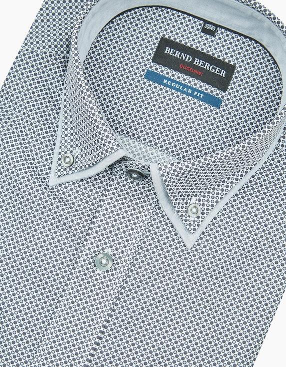 Bernd Berger Dresshemd mit Punkteprint und Doppelkragen, REGULAR FIT   [ADLER Mode]