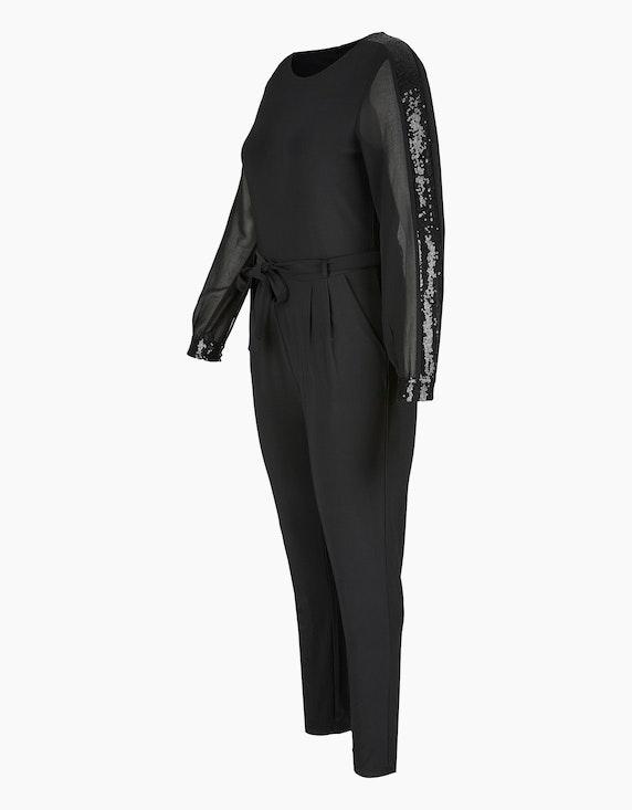 Bexleys woman Jersey-Jumpsuit mit Chiffon-Ärmeln | [ADLER Mode]