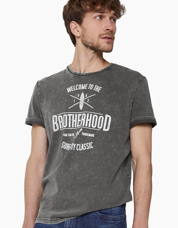 Tom Tailor T-Shirt in Stone-Washed-Optik | [ADLER Mode]