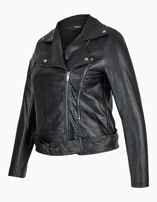 Lederimitat-Jacke im Biker-Stil mit Schlangenmuster in  - MY OWN articleID: 12864 colorID: 9406