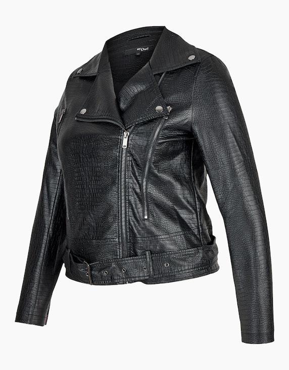 MY OWN Lederimitat-Jacke im Biker-Stil mit Schlangenmuster | [ADLER Mode]