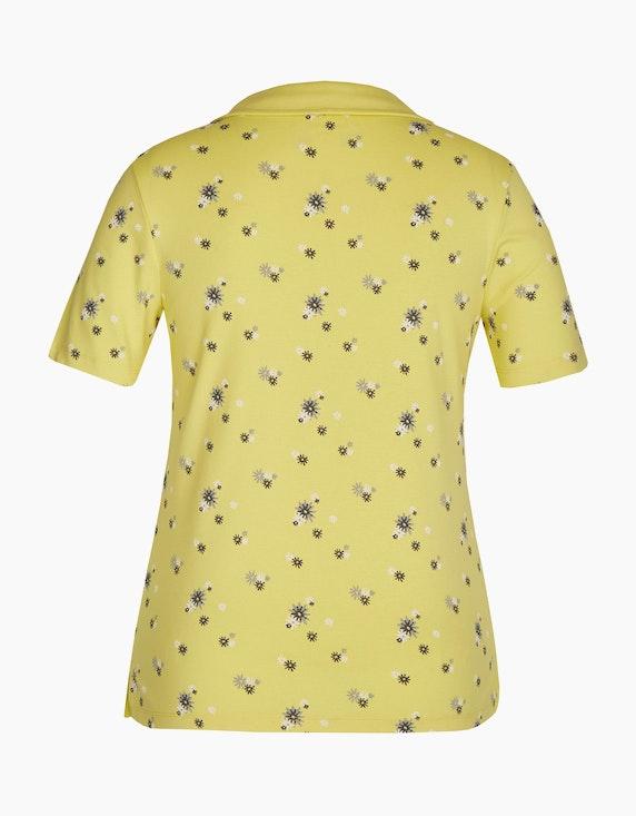 Bexleys woman Floral bedrucktes T-Shirt mit Polo-Kragen | [ADLER Mode]